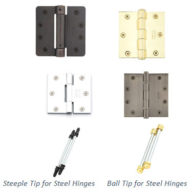 Hinges - Many Finishes, Sizes & Functions